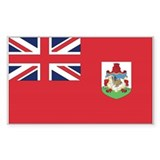 Bermuda Country Flag Rectangle Decal