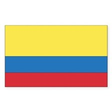 Colombia Country Flag Rectangle Decal