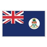 Cayman Islands Country Flag Rectangle Decal