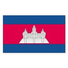 Cambodia Country Flag Rectangle Decal