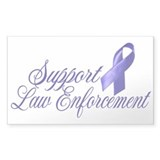 Support Law Enforcement Rectangle Decal