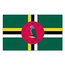 Dominica Country Flag Rectangle Decal