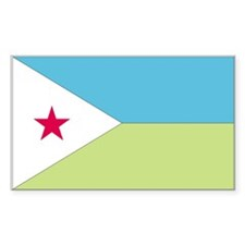 Djibouti Country Flag Rectangle Decal