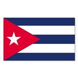 Cuba Country Flag Rectangle Decal