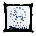Blue Future Democrat Democratic Throw Pillow
