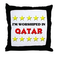 I'm Worshiped In Qatar Throw Pillow