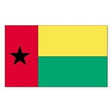 Guinea-Bissau Country Flag Rectangle Decal