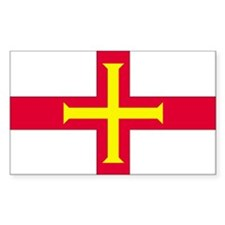 Guernsey Country Flag Rectangle Decal