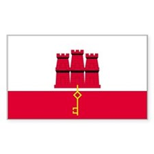 Gibraltar Country Flag Rectangle Decal