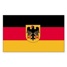 Germany Country Flag Rectangle Decal