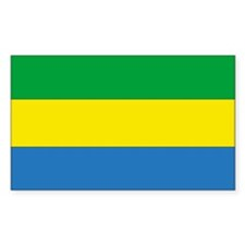 Gabon Country Flag Rectangle Decal