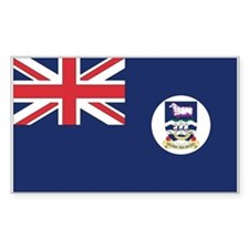 Falkland Islands Flag Rectangle Decal