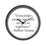 If you judge people Wall Clock