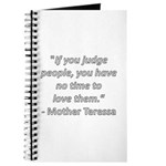 If you judge people Journal