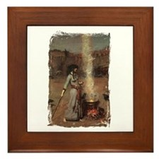 The Magic Circle by JW Waterhouse Framed Tile
