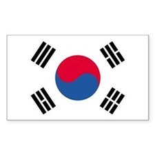 Korea, South Country Flag Rectangle Decal