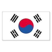 Korea, South Country Flag Rectangle Decal