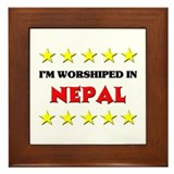 I'm Worshiped In Nepal Framed Tile