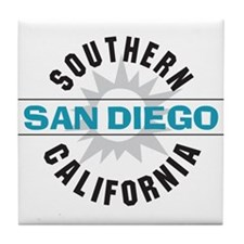 San Diego California Tile Coaster