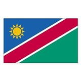 Namibia Country Flag Rectangle Decal