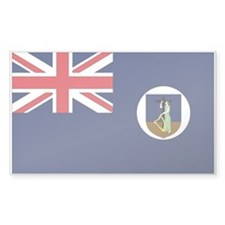 Montserrat Country Flag Rectangle Decal