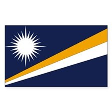 Marshall Islands Flag Rectangle Decal