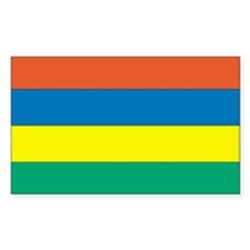 Mauritius Country Flag Rectangle Decal