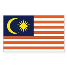 Malaysia Country Flag Rectangle Decal