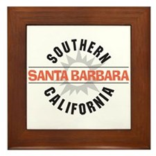 Santa Barbara California Framed Tile