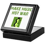 Make Music Not War Keepsake Box