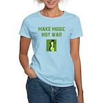 Make Music Not War Women's Light T-Shirt