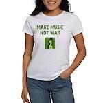 Make Music Not War Women's T-Shirt