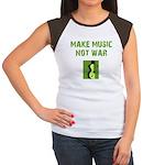 Make Music Not War Women's Cap Sleeve T-Shirt