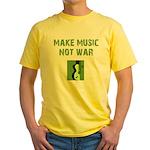 Make Music Not War Yellow T-Shirt
