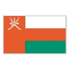 Oman Country Flag Rectangle Decal