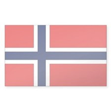 Norway Country Flag Rectangle Decal