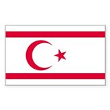 Northern Cyprus Flag Rectangle Decal