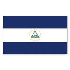 Nicaragua Country Flag Rectangle Decal
