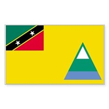 Nevis Country Flag Rectangle Decal