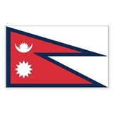 Nepal Country Flag Rectangle Decal