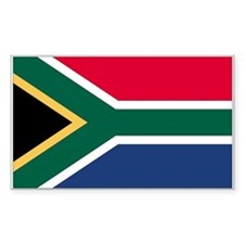 South Africa Country Flag Rectangle Decal