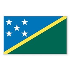 Solomon Islands Flag Rectangle Decal