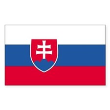 Slovakia Country Flag Rectangle Decal