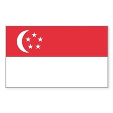 Singapore Country Flag Rectangle Decal
