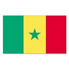 Senegal Country Flag Rectangle Decal