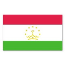 Tajikistan Country Flag Rectangle Decal