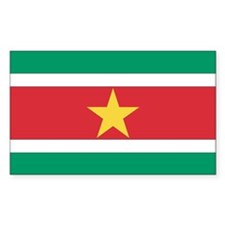 Suriname Country Flag Rectangle Decal