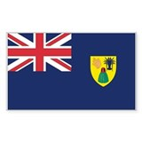 Turks & Caicos Country Flag Rectangle Decal