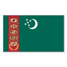 Turkmenistan Flag Rectangle Decal