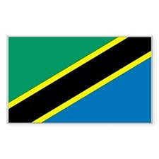 Tanzania Country Flag Rectangle Decal